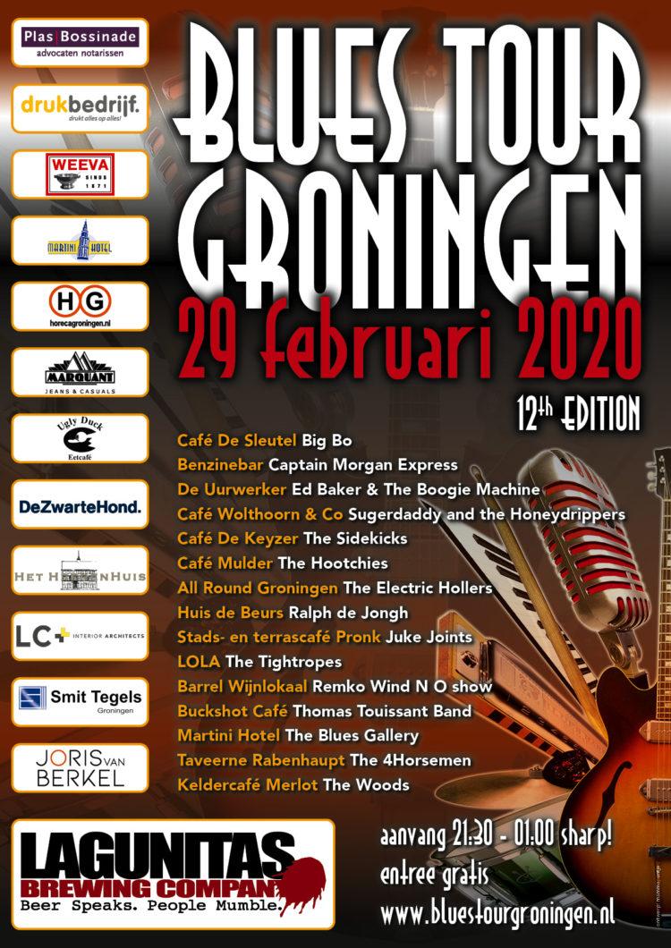 Blues Tour Groningen poster 2020